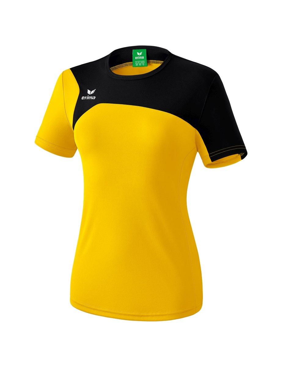 Erima GmbH Club 1900 2.0 Camiseta, Mujer, Amarillo/Negro, 38