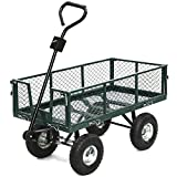 Wheelbarrows, Carts & Wagons Steel Heavy Duty Utility Wagon Wheelbarrow Lawn Cart Yard Crate Garden Supplies