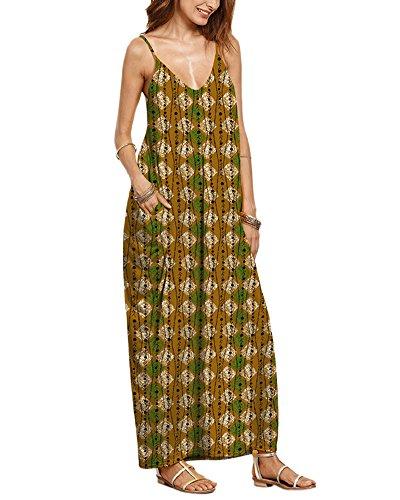 Sommerkleider Damen Boho Röcke Lange Abendkleid Strandkleid ...