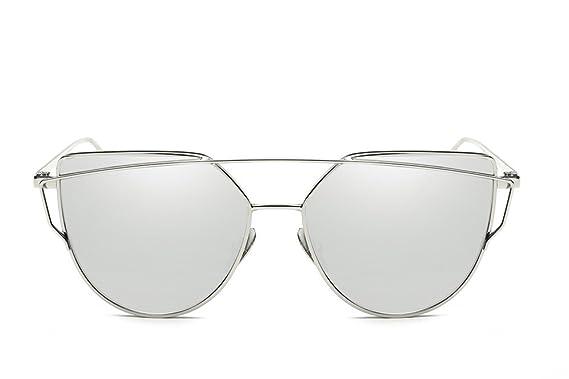 Amazon.com: JR ojo de gato lentes espejo plano Street ...