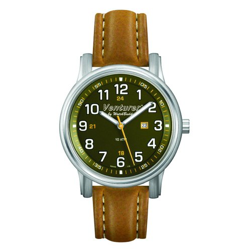 Green Dial Tan Leather Strap - 8