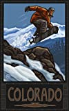 Northwest Art Mall Colorado Snowboard Jumping SBJ Wall Art by Paul A. Lanquist, 11-Inch by 17-Inch