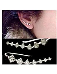 Pixel Jewelry 1985 - Fashion Womens Silver Crystal Rhinestone Stud Earrings Ear Hook Jewelry