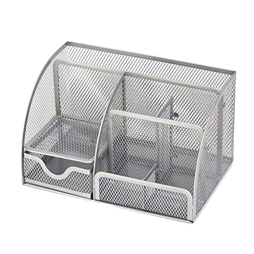 Dergo ☀Office Desk Organizer ,with 6 Compartments Drawer | The Mesh Collection Black (B) (Best Thoughts For School Assembly)
