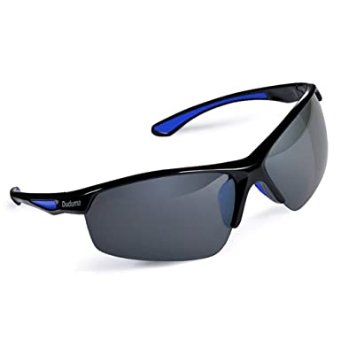 2330d505d72 Amazon.com  Duduma Polarized Sports Sunglasses for Baseball Cycling Fishing  Golf Tr58 Superlight Frame (Black Black)  Clothing