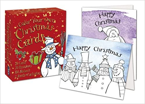 Color Your Own Christmas Cards David Antram 9781910184134