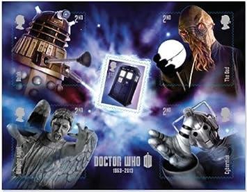 Royal Mail Hoja en Miniatura Doctor Who - Especial de 5 Sellos ...