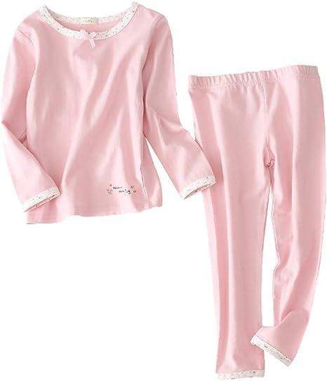 LAAT Pijama para Niños Invierno Algodón Albornoz Camisón de Rosa Ropa de Dormir para Niña size M 100cm: Amazon.es: Bebé