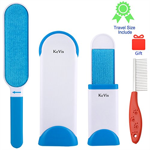 Pet Fur and Lint Remover with Self-Cleaning Design Double-Sided Brush Removes Pet Hair from Clothes & Furniture by KeVis