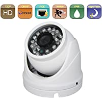HOSAFE 1MD4P HD IP Camera POE Outdoor 1MP 1280x720P Night Vision ONVIF H.264 Motion Detection Email Alert Remote View Via Smart Phone/Tablet/PC