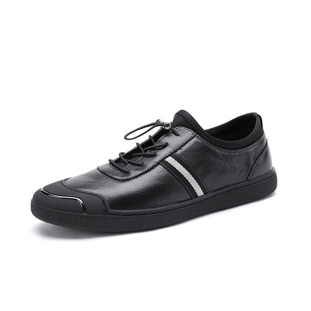 78c9e174fa76a Amazon.com : Hasag Men'S Shoes Summer Black Leather Casual Men'S ...