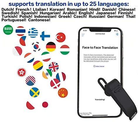 ETbotu Smart Traduttore Auricolari 25 Lingue Cuffie di traduzione Traduttore vocale Intelligente Traduttore istantaneo Trasduttore Auricolare Wireless Blu