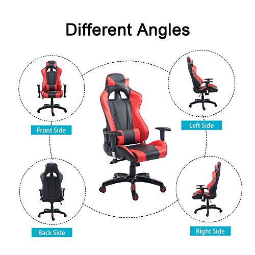 51Vkm8x79aL - Cloud-Mountain-Gaming-Chair-PU-Leather-Racing-Style-Office-Chair-High-back-Swivel-Desk-Executive-Gaming-Chair-Lumbar-Support-With-Ergonomic-Design-Soft-Headrest-Task-Video-Gaming-Chair