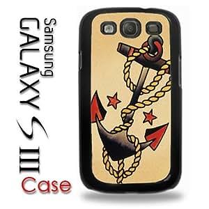 Samsung Galaxy S3 Plastic Case - Anchor Sailor Boat anchor tattoo style artwork