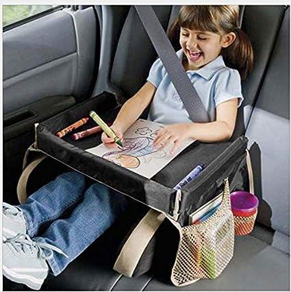TXDIRECT Tablette De Voyage Voiture Enfant Plateau Voyage Enfant Voiture Voyage Plateaux pour Enfants Avion Voyage Plateau Volant Table Plateau Blue