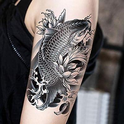 Tatuaje Tatuaje Pegatinas Impermeable Carpa Lotus Totem Brazo ...