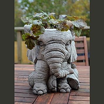 Fantastic Garden Ornaments by Onefold AN9 Elephant Pot Stone Garden Planter  FQ99