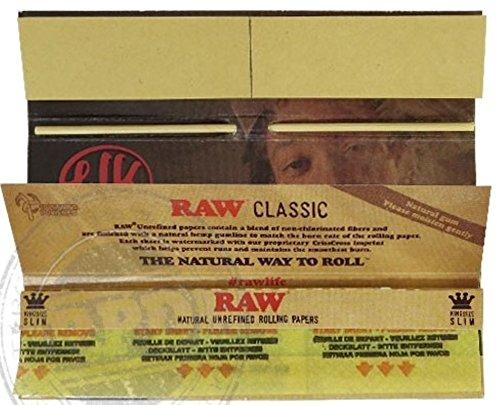 /Raw King Size Slim Connoisseur Feuilles /à rouler Conseils produit neuf /à partir de Raw /1/livret par Trendz /The Wiz Lot/ / Wiz Khalifa/