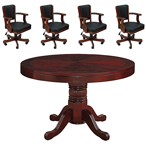 English Tudor 48'' 2 in 1 Game Table and 4 Matching Chairs by RAM Gameroom