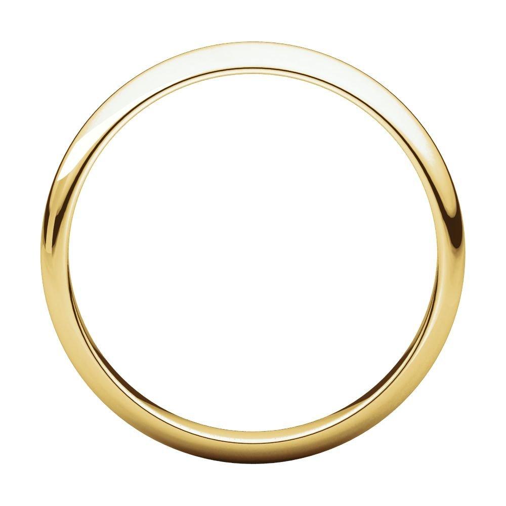 14K Yellow Gold 4mm Half Round Light Band