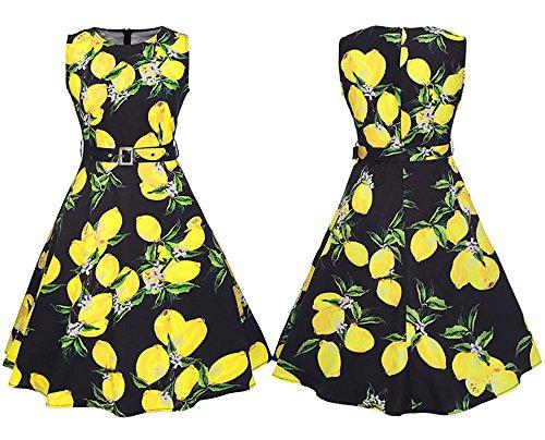 - LYLIFE Women's Scuba Sleeveless Princess Seamed Sheath Dress(Black-XX-Large)