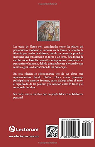 Fedro o del amor: El mito de la caverna. Crátilo (Spanish Edition): Platón: 9781548952860: Amazon.com: Books