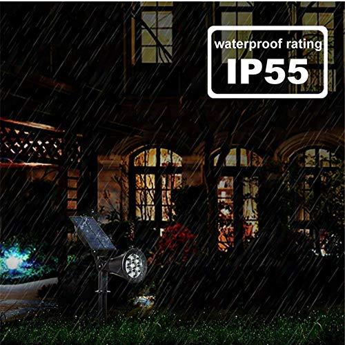 Appreciis 2 7 LED Outdoor Solar Lights Color Spot for Garden Landscape Spotlights Dark Auto On/Off Solar Lights for Lawn 7 LED Changing