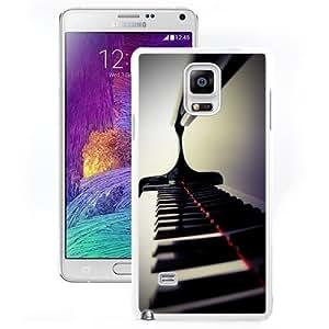 Fashionable Custom Designed Samsung Galaxy Note 4 N910A N910T N910P N910V N910R4 Phone Case With Piano Keys Closeup_White Phone Case