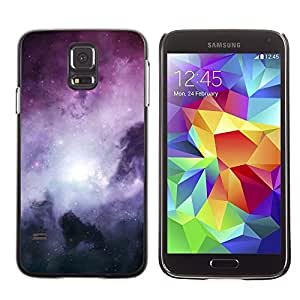 Design for Girls Plastic Cover Case FOR Samsung Galaxy S5 Galaxy Stardust Space Purple Gas Clouds OBBA