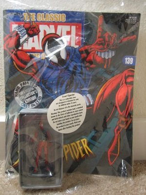 Classic Marvel Collection Lead Figurine: Scarlet Spider #139 / Eaglemoss - Sealed w/Collector's Magazine - VERY RARE!!