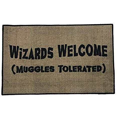 Extreem Amazon.com : Harry Potter Wizards Welcome Entry Doormat ~2x3 - FMS MR54