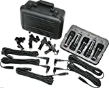 Peavey Drum Microphone Kit w/5 Drum Mics Including XLR Cables, Clamps, and Carrying Case