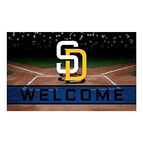 - FANMATS 21931 Team Color Crumb Rubber San Diego Padres Door Mat