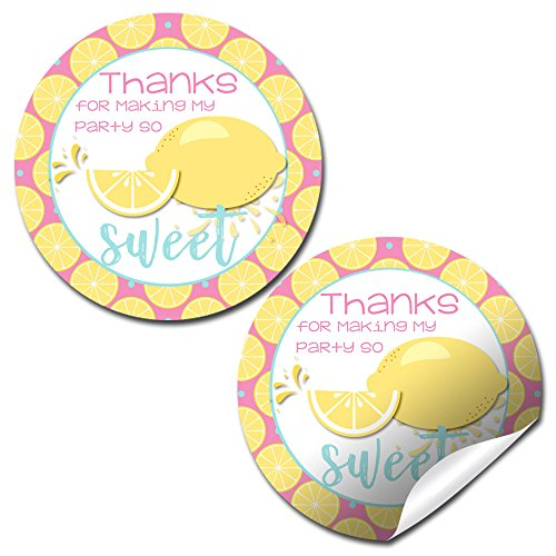 Sweet Summer Lemonade Thank You Sticker Labels, 40 2