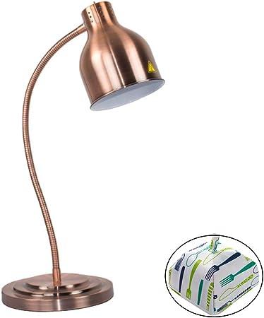 Lampe Chauffante Pour Buffet 250w Base En Acier Inoxydable Cadeau