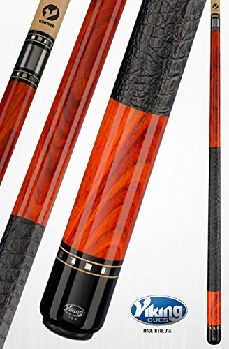 Cocobolo Joint (Viking A395 Pool Cue Stick Central American Cocobolo - Gator Leather Wrap - Maple and Mirror - Black (IMA) Index Rings - Quick Release Joint ViKORE Shaft 18, 18.5, 19, 19.5, 20, 20.5, 21 oz. (19.5))
