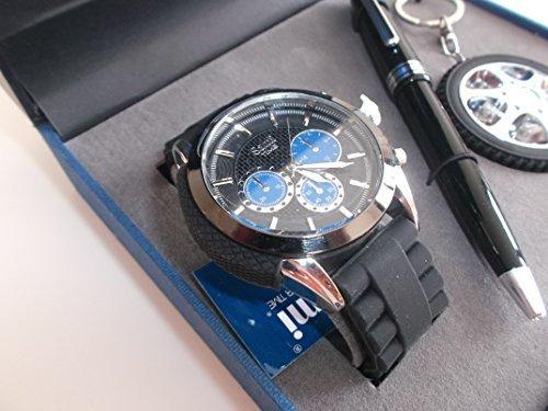 Sami RSM-43569-4 Motor Time Series Conjunto de Reloj de caballero esfera con