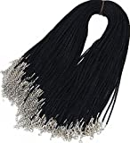 Wonderful 20pcs Black Satin Silk Necklace Cord Rope Necklace Chain with Lobster Claw Clasp