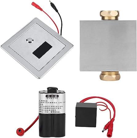 FTVOGUE Toilet Urinal Flush Valve Button Type Manual Delay Automatic Shutoff