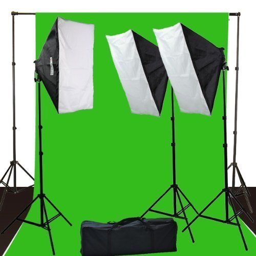 ePhoto 10 x 12 ChromaKey Green Screen Digital Photography Video Continuou Lighting Background Support Kit by ePhotoInc H9004S3-1012G by ePhoto