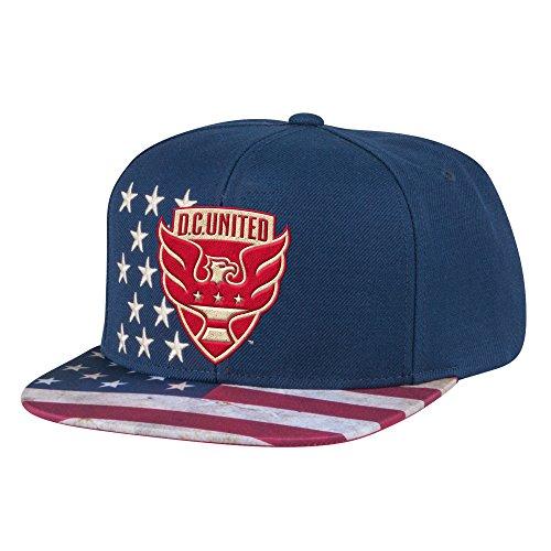MLS D.C. United Men's Patriotic Snapback Cap, One Size, Navy ()