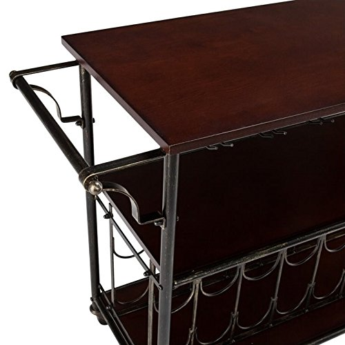 Southern Enterprises Rolden Wine/Bar Cart, Espresso