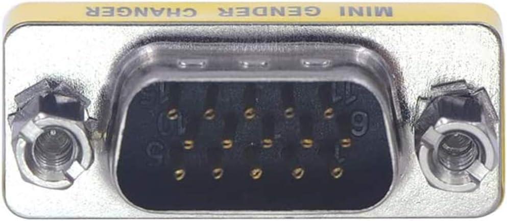 VCE 8 Pack HD15 VGA SVGA Male to Male Mini Gender Changer Coupler Adapter