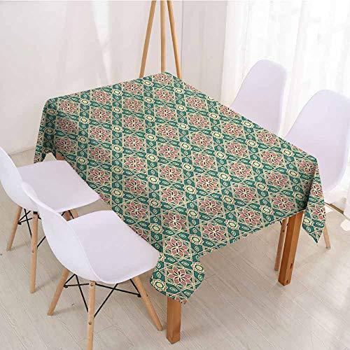 ScottDecor Rectangular Polyester Tablecloth Fabric Tablecloth W 60