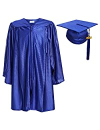 Newrara Unisex Shiny Kindergarten Graduation Gown Cap with Tassel