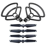 Drone Repair Parts - ZEEY 4pcs Quick Release Lightweight Propellers for DJI Spark Drone + 4pcs Lightweight Propeller Protector Guard