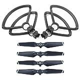 ZEEY 4pcs Quick Release Lightweight Propellers for DJI Spark Drone + 4pcs Lightweight Propeller Protector Guard