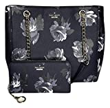 Kate Spade New York Willis Tote bundled with matching Kate Spade New York Neda Wallet (Briar Lane WKRU5569 Night Rose Navy)