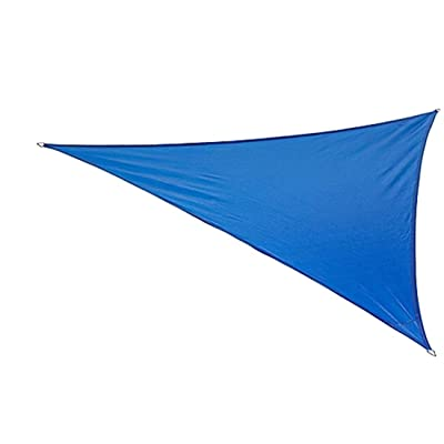 "BELLRINO DECOR "" Thick and Strong Sun Shade Sail Triangle 16 x 16 x 16FEET, Blue (TRI Blue 16 X 16 X 16) : Garden & Outdoor"