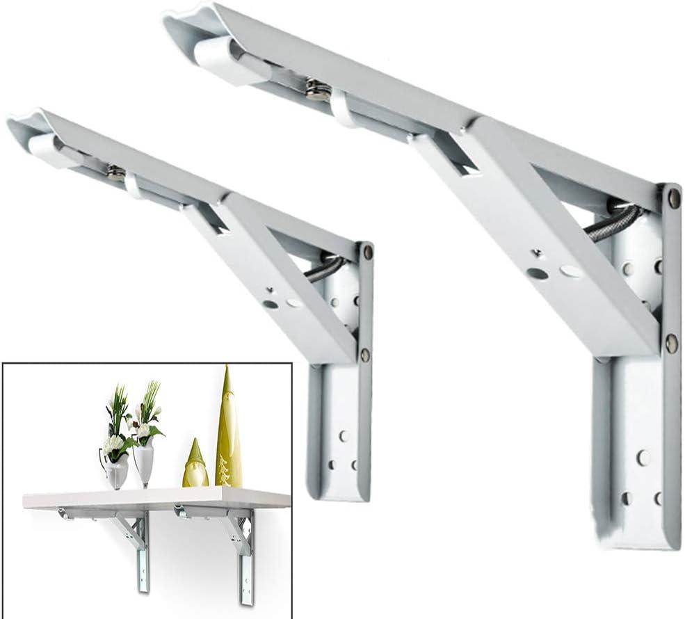 QAZW estanterias metalicas Plegable Pesado Triangular Estante Blancas Hierro Tipo k baldas de Pared Moda Simple con Accesorios de Montaje(2 Piezas): Amazon.es: Hogar